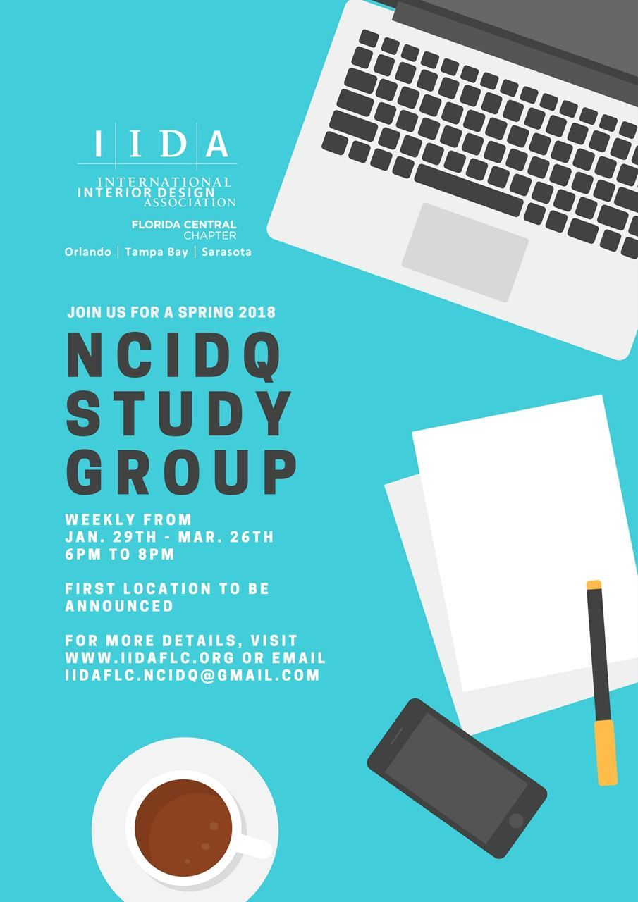 Iida Florida Central Chapter Ncidq Study Group Tampa